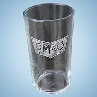 Vintage Gulf, Mobile & Ohio Railroad GM&ORR Side Logo Drinking Glass