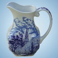 Vintage Liberty Blue China Large Milk Pitcher Staffordshire Made in England