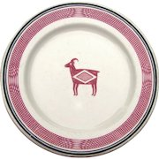"""Vintage Authentic Santa Fe """"Mimbreno"""" Railroad China Luncheon or Cake Plate AT&SFRR"""