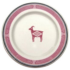 "Vintage Authentic Santa Fe ""Mimbreno"" Railroad China Luncheon or Cake Plate AT&SFRR"