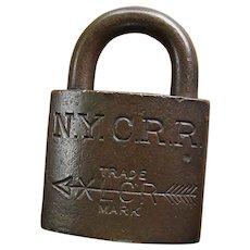 "New York Central Railroad Brass XLCR (""Excelsior"") Padlock by Corbin"