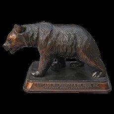 "Vintage Chicago Milwaukee & St. Paul Railroad Grizzly Bear Figurine ""Gallatin Gateway to Yellowstone"" CM&StPRY"
