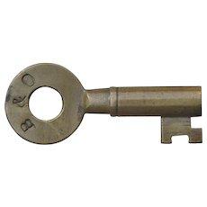 Vintage B&O Railroad Repair Track Ring Barrel Brass Key by Fraim Baltimore & Ohio railway
