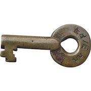 Antique Erie Railroad Brass Switch Key Older Adlake