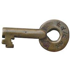 Antique Erie Railroad Brass Switch Key Older Adlake