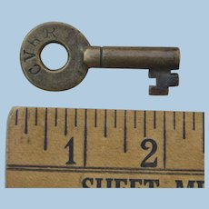 Antique Central Vermont Railroad Brass Bohannan Switch Key CVRR Railway