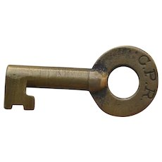 Vintage Canadian Pacific Railway Railroad Brass Switch Key CPR