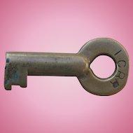Vintage Illinois Central Railroad Brass Heavy Switch Key ICRR