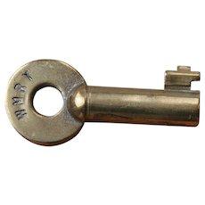 Vintage Western Maryland Railway Railroad Brass Switch Key