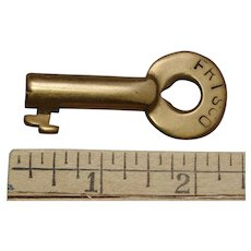 Vintage FRISCO Railroad Brass Switch Key by Adlake St. Louis–San Francisco Railway
