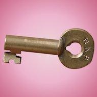 "NKP ""Nickel Plate"" Railroad Brass Key New York, Chicago & St. Louis Railroad"