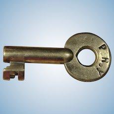 Antique PRY People's Railway of Pottsville Pennsylvania Railroad Brass Switch Key