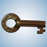 H&BTMRR Railroad Brass Switch Key by Fraim Huntington & Broad Top Mountain