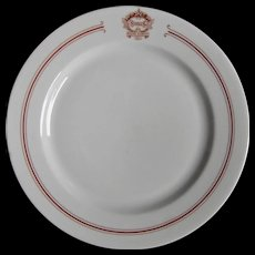 SEVERAL AVAILABLE: Antique Snell's Dancing Academy Restaurant Ware Dance School China Dinner Plate - Red Tag Sale Item