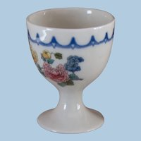 "Chicago, Milwaukee, St. Paul & Pacific Railroad China ""Peacock"" Pedestal Single Egg Cup CMStP&PRR"