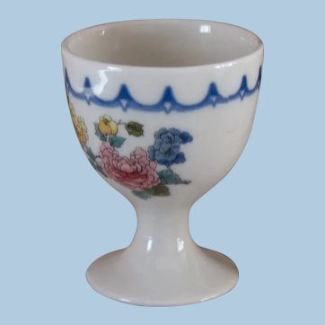 """Chicago, Milwaukee, St. Paul & Pacific Railroad China """"Peacock"""" Pedestal Single Egg Cup CMStP&PRR"""