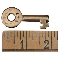 Antique Rome, Watertown & Ogdensburg Railroad Brass Switch Key RW&ORR Railway