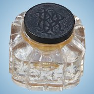 Vintage Pennsylvania Railroad Glass Ink Well PRR Inkwell