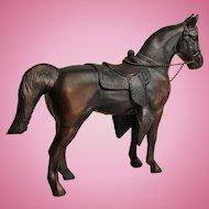 Vintage Large Gladys Brown Edwards Mid-Century Cast Metal Western Arabian Stallion Horse