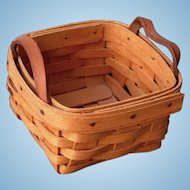Vintage 1994 Adorable Little Signed Hand Woven Longaberger Basket