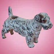Vintage Cast Metal Sealyham Terrier Dog Miniature Figurine in Original Paint