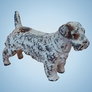Vintage Cast Metal Sealyham Terrier Dog Miniature Figurine in Original Paint