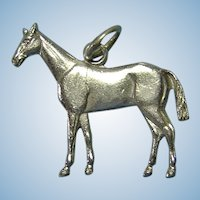GIFT QUALITY: Miniature Sterling Silver Horse Charm or Pendant Realistic