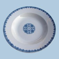 Antique Baltimore & Ohio Railroad China Derby Pattern Soup Plate B&ORR