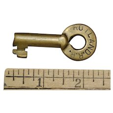 Vintage Rutland Railroad Brass Switch Key Adlake