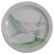 Great Northern Railroad China Luncheon or Cake Plate GNRR Glory of the West