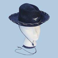 Vintage 1950s Child's Felt Western Cowboy Hat