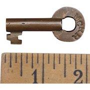Vintage Maine Central Railroad Brass Switch Key MCRR Slaymaker