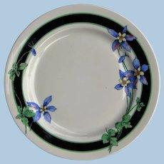 Elegant Union Pacific Railroad China Columbine Dinner Plate