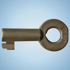 Vintage Pacific Great Eastern Railway PGE Railroad Brass Key