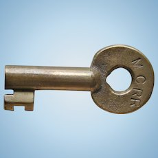 Vintage MCRR Railroad Brass Switch Key by Adlake