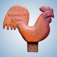 Cast Iron Rooster Windmill Weight Scarce Smaller Size