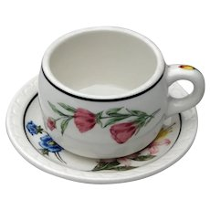 Southern Pacific Railroad China Prairie Mountain Wildflowers Cup & Saucer Set w/ Both pieces RRBS