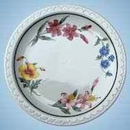Vintage Prairie Mountain Wildflowers Southern Pacific Railroad China Dinner Plate