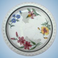 Vintage Southern Pacific Railroad China Luncheon or Cake Plate Prairie Mountain Wildflowers