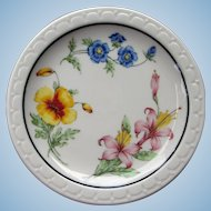 Southern Pacific Railroad China Bread & Butter Plates in Prairie Mountain Wildflowers Railway