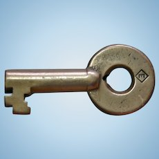 Vintage Erie Railroad Brass Diamond E Logo Switch Key