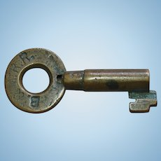 Antique Boston & Maine Railraod Brass Tapered Barrel Switch Key by Sherburne