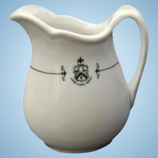 Early 1900s Loon Lake House Resort Restaurant Ware China Pitcher
