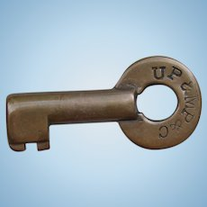 Vintage Union Pacific Railroad Brass UP&MP&C Switch Key