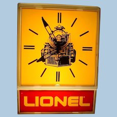 Rare 1970s Lionel Model Railroad Large Electric Wall Clock Sold to Dealers Only