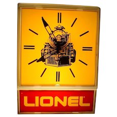 Vintage 1970s Lionel Model Train Railroad Large Electric Wall Clock