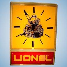 Vintage 1970s Lionel Model Train Railroad Large Electric Wall Clock