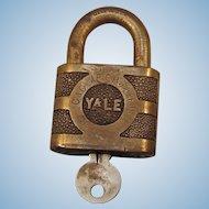 Vintage Chesapeake & Ohio Railway Mechanical Dept. Lock & Original Key Set Railroad Brass