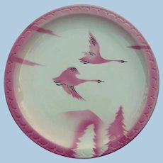 "Scarce ""Milwaukee Road"" Railroad China Dinner Plate from the Chicago, Milwaukee, St. Paul & Pacific"