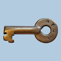 Vintage New York Central Railroad Brass Switch Key